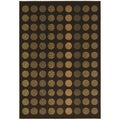 Circle Mix Brown Modern Area Rug (3'10 x 5'6)