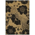 Ebony Wildflower Two-tone Floral Rug (2'6 x 7'8)