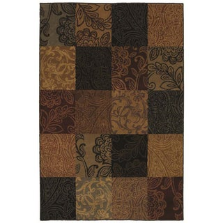 Kalila Multicolored Transitional Patchwork Rug (5'3 x 7'10)