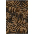 Jungle Ebony Black/ Natural Abstract Rug (3'11 x 5'3)