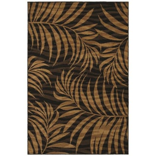'Jungle' Ebony Two-tone Abstract Rug (5'3 x 7'10)