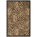 Brown Zebra Print Quilt (3'11 x 5'3)