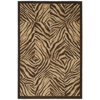 Brown Zebra Print Quilt (5 3x7 10) - Overstock Shopping - Great Deals on Shaw Industries 5x8 ...