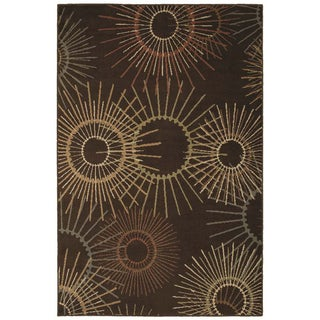 Stardust Brown Retro Rug (5'3 x 7'10)