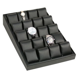 Black Watch Box Angled Display Case for 20 Watches