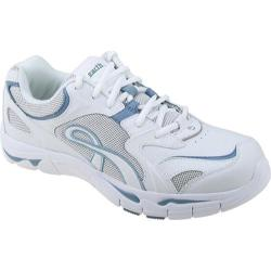 Women's Kalso Earth Shoe Exer-Walk White/Sky Blue K-Calf