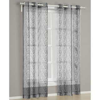 'Barcelona' Charcoal 84-inch Curtain Panel Pair
