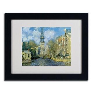 Claude Monet 'The Zuiderkerk at Amsterdam' Framed Matted Art