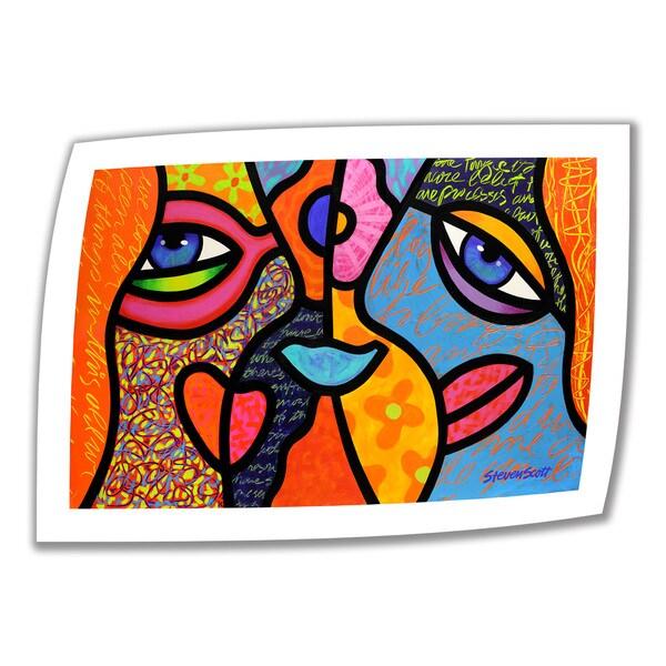 Steven Scott 'Eye to Eye' Unwrapped Canvas