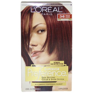 L'Oreal Superior Preference Fade-Defying #5MB Medium Auburn Warmer Hair Color