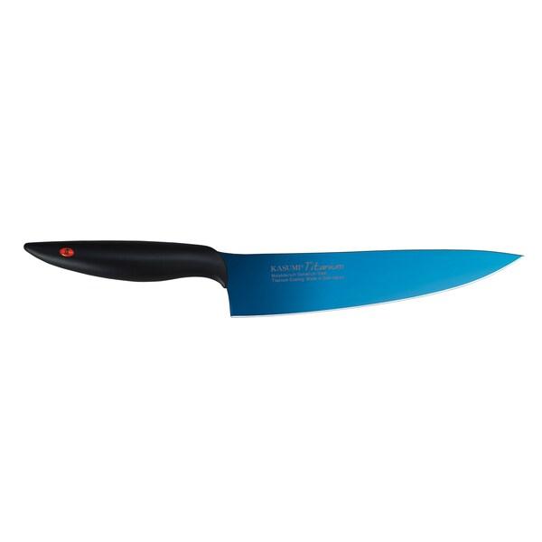 Kasumi Blue Titanium Coated Chef Knife