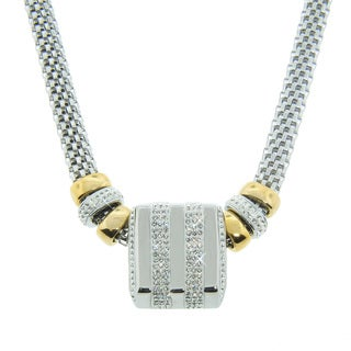 Eternally Haute Goldtone Stainless Steel Czech Crystal Fashion Necklace