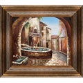 'Greek Villa II' Hand Painted Framed Canvas Art