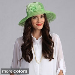 Swan Hat Women's Braided Crinoline Floppy Hat