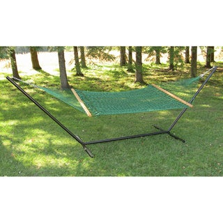 60-inch Forest Green Polyester Rope Hammock