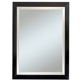 Carson Black and Silver 29 x 35-inch Framed Mirror