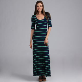 24/7 Comfort Apparel Women&#39;s Elbow Length Maxi Dress