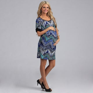 24-7 Comfort Apparel Maternity Dolman Short Dress