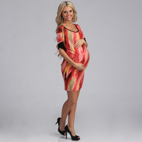 24/7 Comfort Apparel Dolman Maternity Short Dress