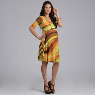 24/7 Comfort Apparel Maternity Basic Dress