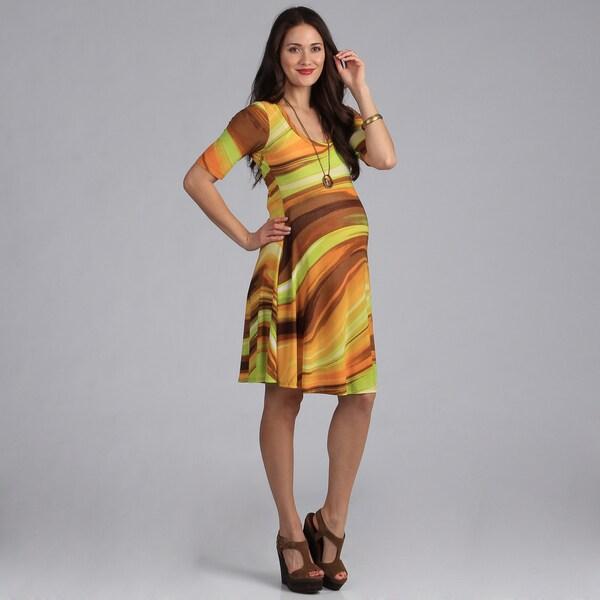 24/7 Comfort Apparel Maternity Basic Dress