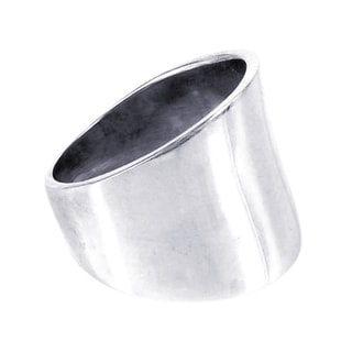 Plain Wide Front Design .925 Sterling Silver Ring (Thailand)