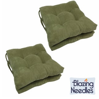Blazing Needles Earthy 16-inch Square Microsuede Dining Chair Cushions (Set of 4)