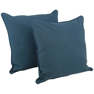 Blazing Needles 25-inch Twill Floor Pillows with Cording and Inserts