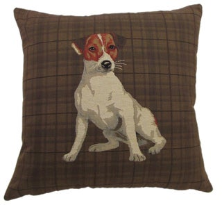 'Best Friends' 18-inch Plaid Throw PIllow