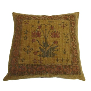Flora French 18-inch Throw Pillow