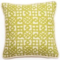 Yellow/ Beige Lattice Pattern 18-inch Throw Pillow