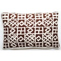 Brown/ White Lattice Design 17 x 11-inch Throw Pillow