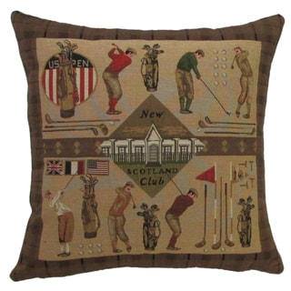 Golf Design 18-inch Throw Pillow