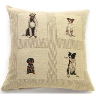 'Best Friends' Dog Design Throw Pillow, 18-inch