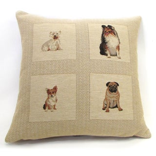 'Best Friends' Dog Pattern Throw Pillow, 18-inch