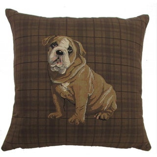 'Best Friends' Dog Design 18-inch Throw Pillow