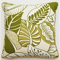 Leaf Pattern 18-inch Outdoor Living Throw Pillow