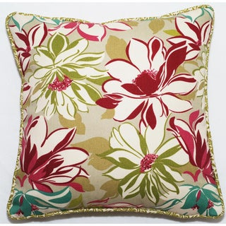 Vibrant Floral 18-inch Outdoor Living Throw Pillow