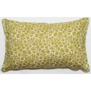Floral 17 x 11-inch Outdoor Living Throw Pillow