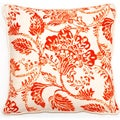 Bali Collection 18-inch Orange Floral Throw Pillow
