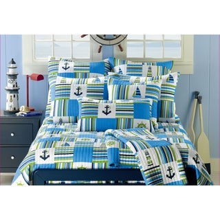Anchor Blue 3-piece Quilt Set