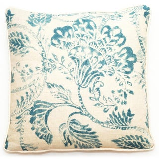 Corona Decor Blue Floral 18-inch Throw Pillow