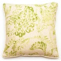 Decor 18-inch Green Floral Throw Pillow