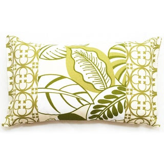Rectangular Floral Outdoor Living Throw Pillow