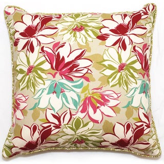 Vibrant Floral Outdoor Living 18-inch Throw Pillow