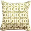 Decorative 18-inch Clover Pattern Outdoor Living Throw PIllow