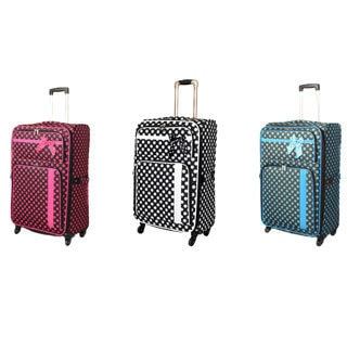 Polka Dot Delight 29-Inch Expandable Lightweight Spinner Upright Luggage