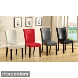 Davao Parson Leatherette 2-piece Dining Chairs Set
