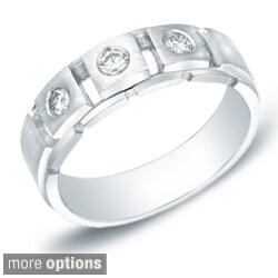 Auriya 14k White or Yellow Gold Men's 1/3ct TDW Diamond Ring (H-I, SI1-SI2)
