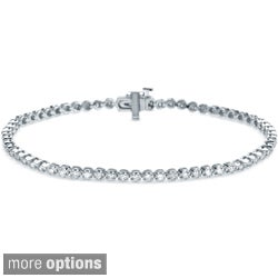 Auriya 14k White or Yellow Gold 1ct TDW Diamond Tennis Bracelet (H-I, I2-I3)